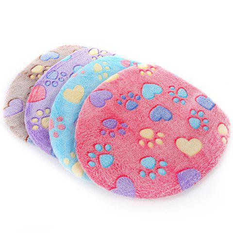 Thick Flannel Cat Claw Pattern Toilet Cushion 2pcs - HELIOTROPE PURPLE