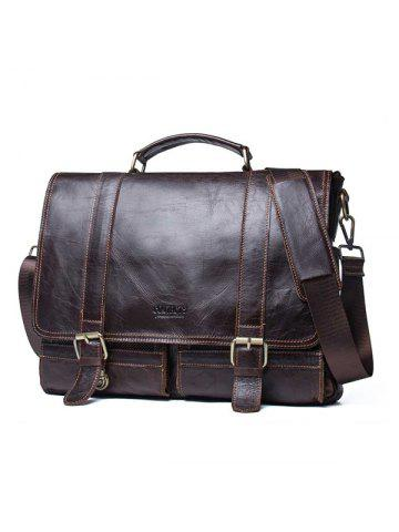 6fdecedfdf52 Contact S MB074 Leather Casual Mobile Business Briefcase First Layer  Cowhide Men Computer Bag Shoulder Messenger Bag