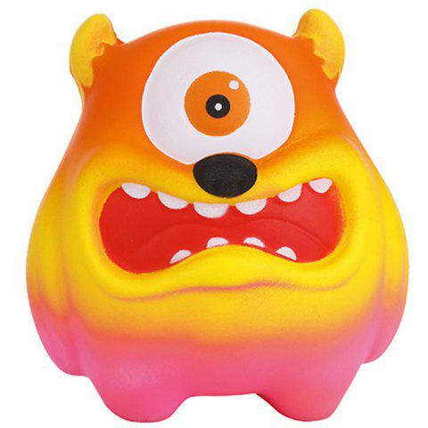 Slow Rebound Cartoon Big Mouth Monster PU Slow Rebound One-eyed Big Mouth Monste - YELLOW