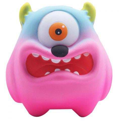 Slow Rebound Cartoon Big Mouth Monster PU Slow Rebound One-eyed Big Mouth Monste - PINK