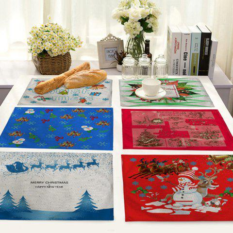 Fabric Christmas Decoration Mat for Table - multicolor J