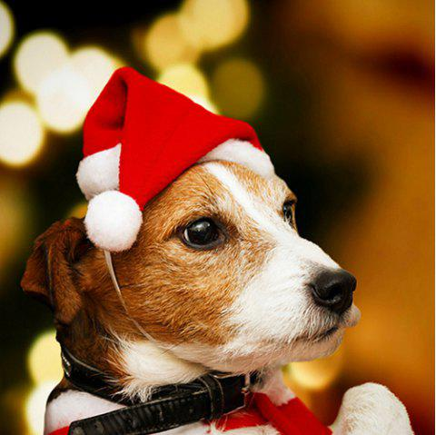 Dog Pet Christmas Hat for Decoration - RED