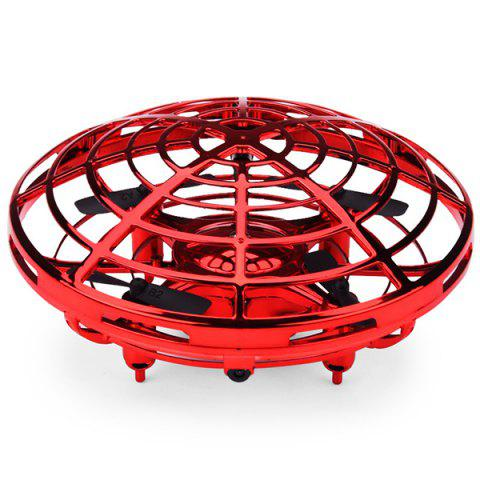 Induction Aircraft Feel Smart Flying Saucer Mini Infrared Sensor Interactive Toy - RED