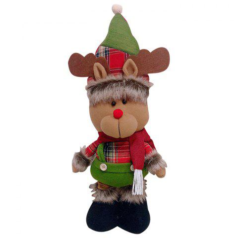 Christmas Ornaments Doll with Retractable Legs - BROWN SUGAR