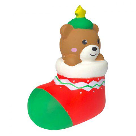 Slow Rebound Christmas Stockings Bear Squishy Christmas - multicolor A