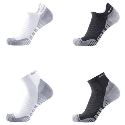 Xiaomi youpin HANDRAGON Moisture Absorbing Antibacterial Light Sports Socks 3 Pairs - BLACK SOCK SLIPPERS / L