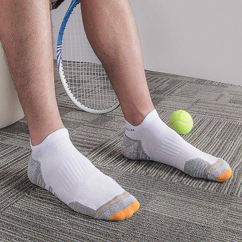Xiaomi youpin HANDRAGON COOLMAX Antibacterial Sports Socks 3 Pairs - WHITE SOCK SLIPPERS / L