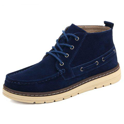 Men High-top Velvet Warm shoes - DEEP BLUE EU 44