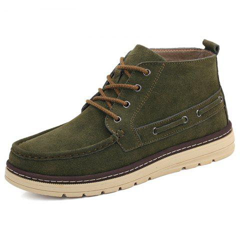 Men High-top Velvet Warm shoes - ARMY GREEN EU 40