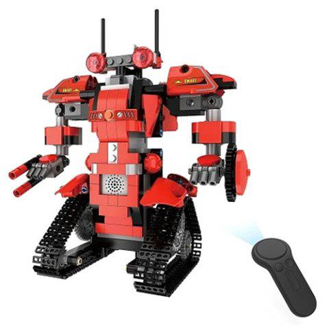 Educational DIY Assembled Building Blocks Robot Toy Set with Remote Control - RED