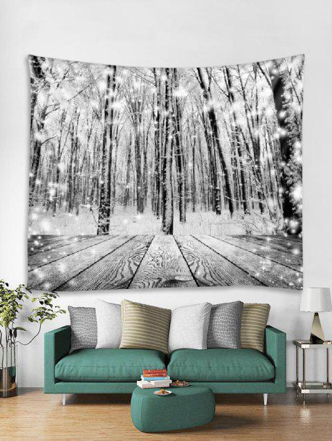 Christmas Snow Wooden Tapestry Art Decoration - TAUPE W91 X L71 INCH