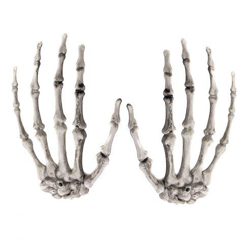 7-LHH2869 Halloween Party Horror Tidy Decoration Hand Claw Pair - PLATINUM
