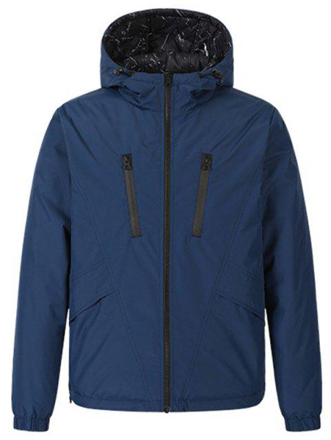 ULEEMARK Men's Double-faced Down Coat Jacket from Xiaomi youpin - BLUE XL