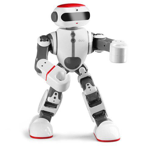 Intelligent Entertainment Toy Multi-functional Self-programming Voice Control Dancing Robot - WHITE