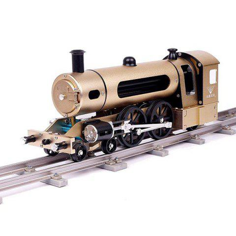 TUXINGGONGJIANGSHI Steam Train Model with Pathway Aluminum Alloy Model Gift Collection Toy - multicolor