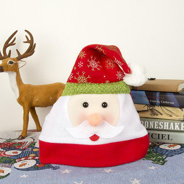 Adult Flannel Cartoon Decoration Christmas Hat - RED OLDMAN