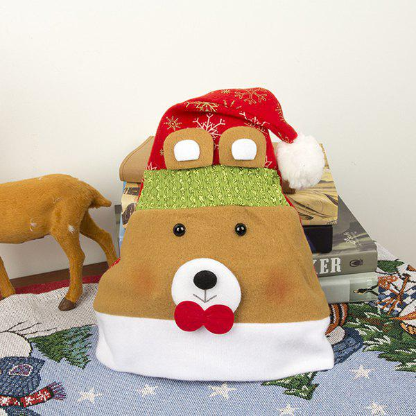 Adult Flannel Cartoon Decoration Christmas Hat - Rouge BEAR