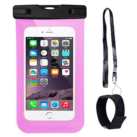 Touch Screen Mobile Phone Waterproof Case Beach Waterproof Mobile Phone Bag For Huawei / Xiaomi / OPPO / VIVO / Apple - PINK