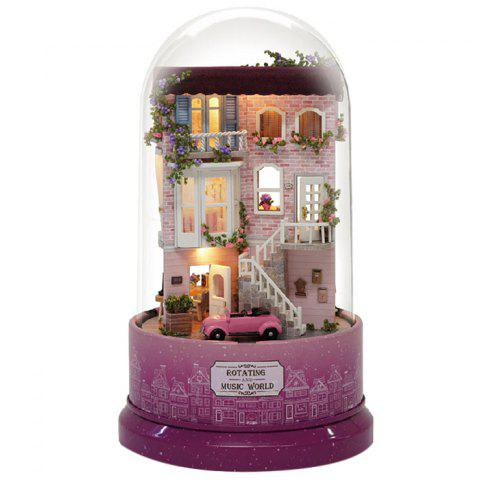 Encounters Corner DIY Doll House With Furniture Music Light Cover Gift House Toy - PURPLE