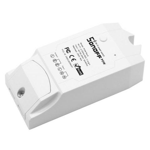 Sonoff Pow R2 WiFi Intelligent Remote Power Monitor Electricity Statistics Current Metering Switch Modification Part - WHITE