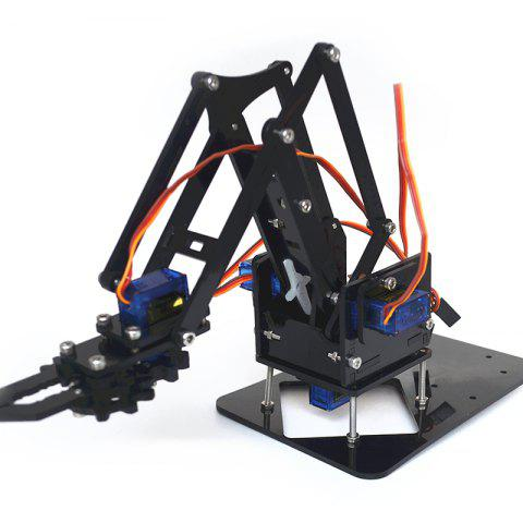 SG90 Four-degree-of-freedom Robotic Arm - BLACK WITHOUT SERVO