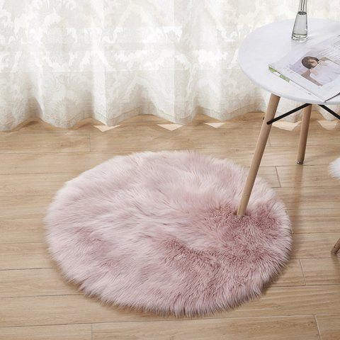 Plush Round Carpet Floor Mats Indoor Full Shop Decoration Diameter 40cm - PINK