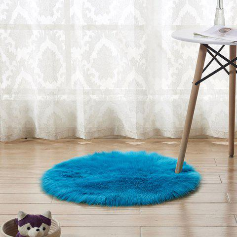 Plush Round Carpet Floor Mats Indoor Full Shop Decoration Diameter 50cm - MACAW BLUE GREEN
