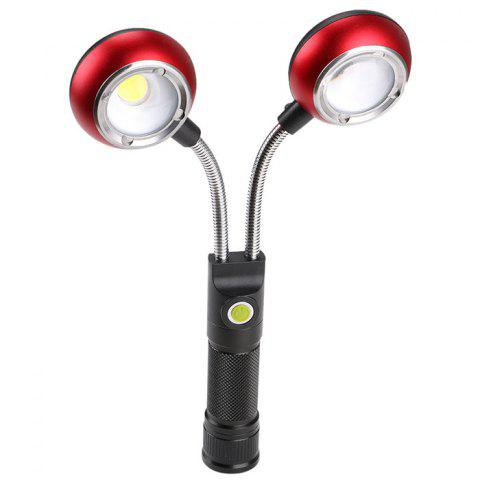Multi-angle Adjustment COB Work Light Double Head Inspection Lamp - ROSSO RED