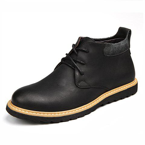 Fashionable Casual Men Boots - BLACK EU 42