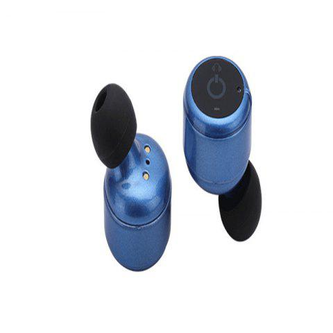 X2T TWS Bluetooth 4.2 Headset Mini Binaural Wireless Stereo In-ear Earphones - Bleu Cobalt