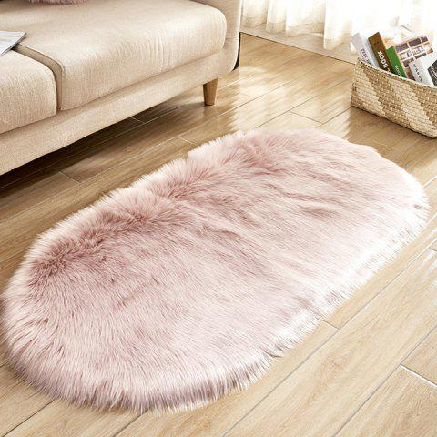 Wool Oval Living Room Carpet Door Mat Bedside Mat Floor Mat - PINK