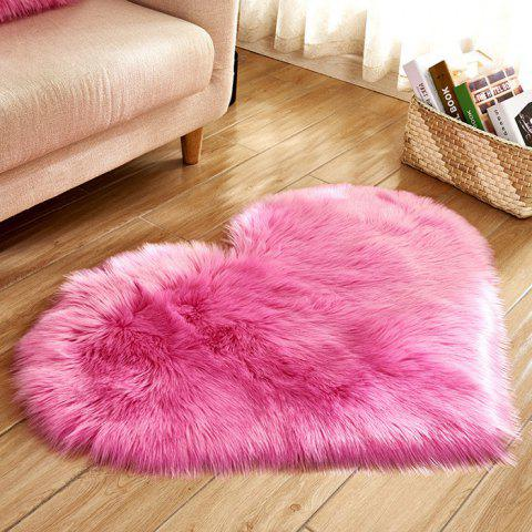 Love Wool Carpet Mattress Blanket Sofa Cushion Mat - ROSE RED