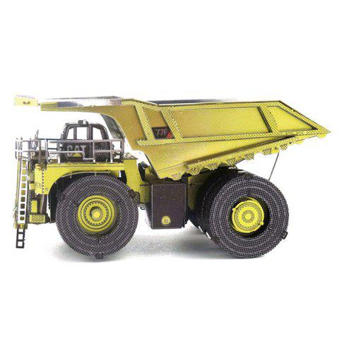 Manually Assembled Engineering Vehicle Model - multicolor A