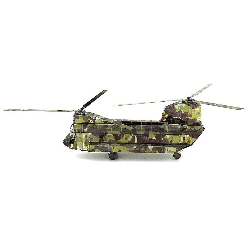 Hand-assembled Helicopter Model Toy Ornament - ACU CAMOUFLAGE