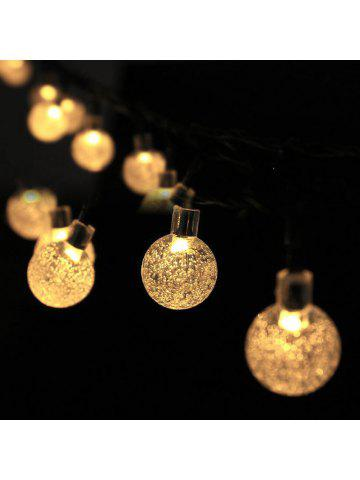 Christmas Decorations Solar Snowflake Bubble Ball Light String 30LED  Holiday Outdoor Decorative Lights