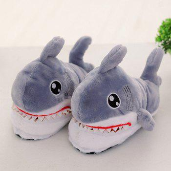 H21 Women's Slippers Cute Shark Head Cotton