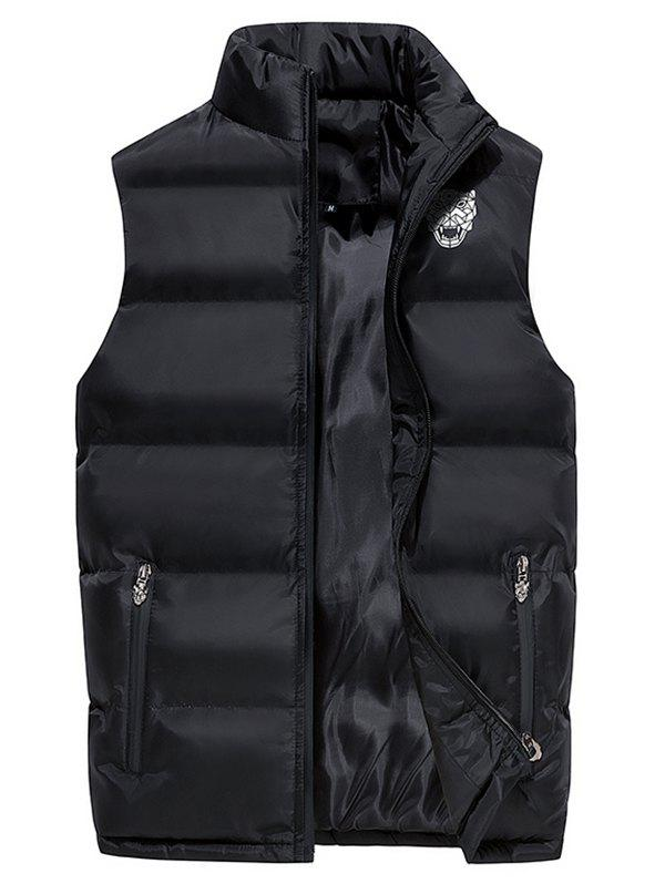 Men's Autumn Simple Vest - BLACK XL