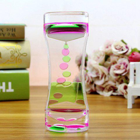 Two-color Dynamic Oil Drop Beautiful Liquid Hourglass - PINK