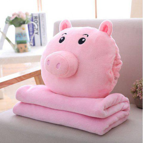 Spring Festival Gifts Pig Pillow Air Conditioning Blanket - PINK