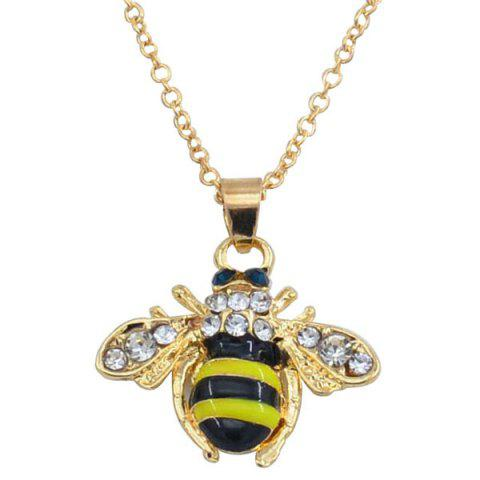 Fresh Little Bee Clavicle Sweater Chain - GOLD