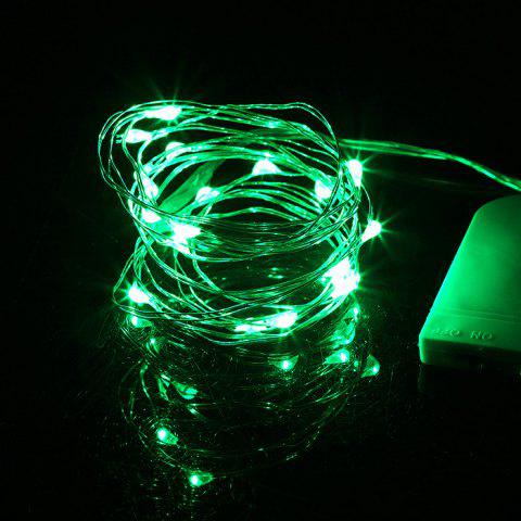 Festive Holiday LED Button Light String 2 Meters 20 Lights Christmas Home Bar Decoration Lights - GREEN