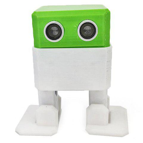 Creative Arduino Nano Obstacle Avoidance Robot DIY Humanity Playmate 3D Toys - GREEN