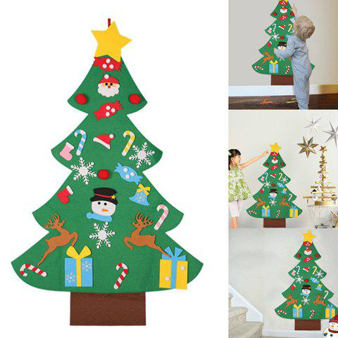 Children's Puzzle DIY Stereo Large Christmas Tree Kit Felt Cloth Assembled Christmas Home Decoration - GREEN