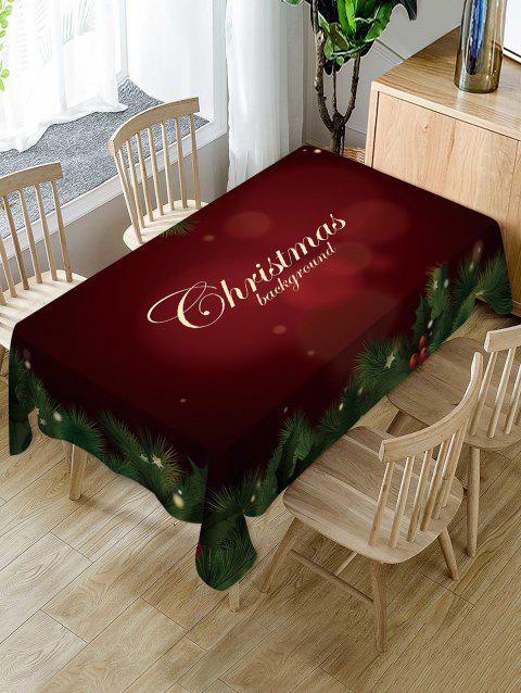 Christmas Star Leaf Fabric Waterproof Table Cloth - RED WINE W54 X L72 INCH