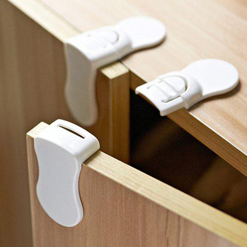 Multi-function Corner Children's Drawer Right Angle Cabinet Door Lock Baby Protection Safety Lock 2PCS - WHITE