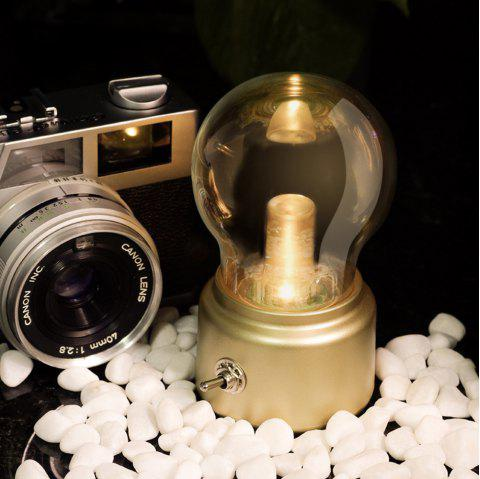 BRELONG Creative Retro USB Rechargeable Bulb Style Night Light for Home - GOLD