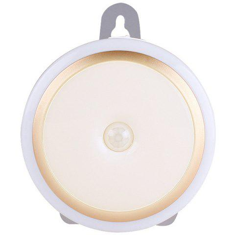 Creative Wireless Remote Control LED Night Light for Bedroom / Home Corridor / Cabinet - WHITE