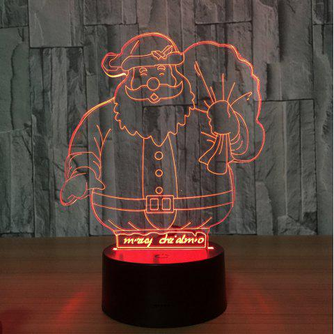 Santa Claus Led Decorative Reading Table Lamp New Strange Creative Night Light - multicolor A