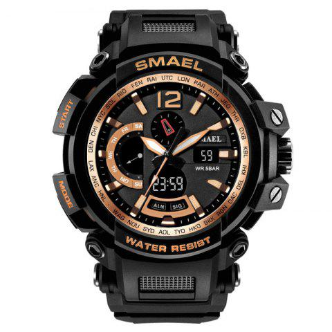 Waterproof Shockproof Stylish Multi-function Electronic Watch - ROSE GOLD
