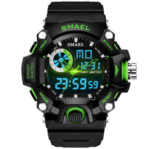 SMAEL 1385 Men's Multifunction Outdoor Mountaineering LED Watch With Box - GREEN